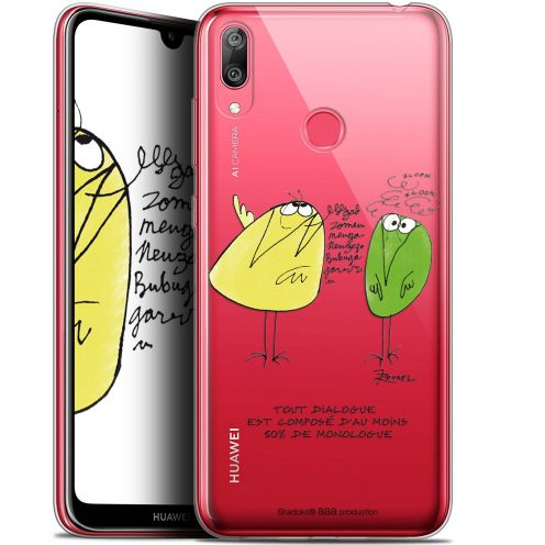 "Coque Gel Huawei Y7 / Prime / Pro 2019 (6.26"") Extra Fine Les Shadoks® - Le Dialogue"