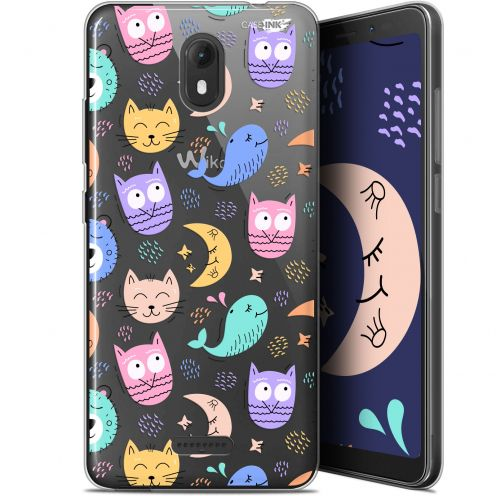 """Coque Gel Wiko View GO (5.7"""") Extra Fine Motif - Chat Hibou"""