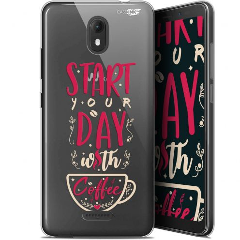 """Coque Gel Wiko View GO (5.7"""") Extra Fine Motif -  Start With Coffee"""