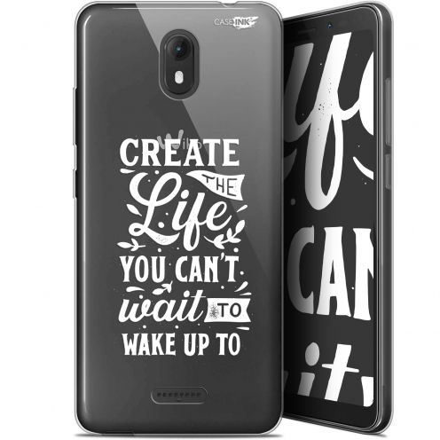 """Coque Gel Wiko View GO (5.7"""") Extra Fine Motif -  Wake Up Your Life"""