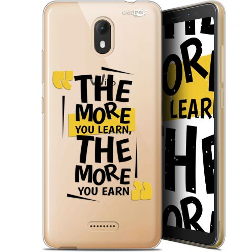 """Coque Gel Wiko View GO (5.7"""") Extra Fine Motif -  The More You Learn"""