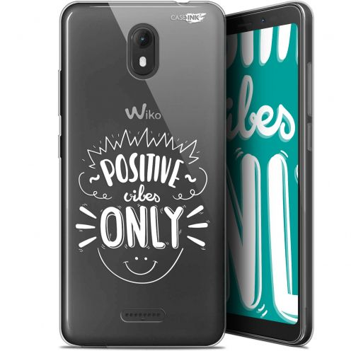"""Coque Gel Wiko View GO (5.7"""") Extra Fine Motif - Positive Vibes Only"""