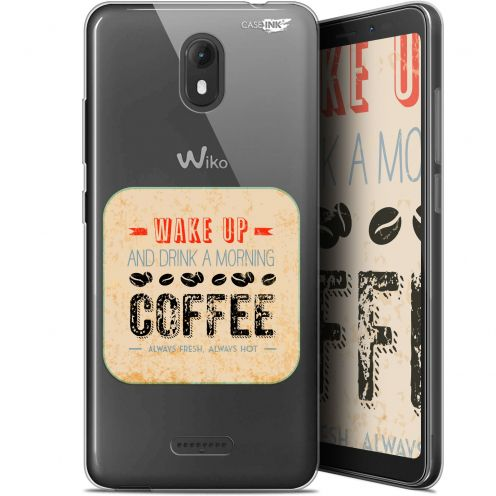 """Coque Gel Wiko View GO (5.7"""") Extra Fine Motif -  Wake Up With Coffee"""