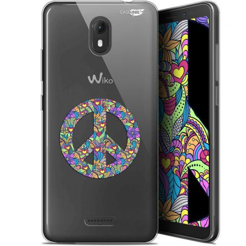 """Coque Gel Wiko View GO (5.7"""") Extra Fine Motif -  Peace And Love"""