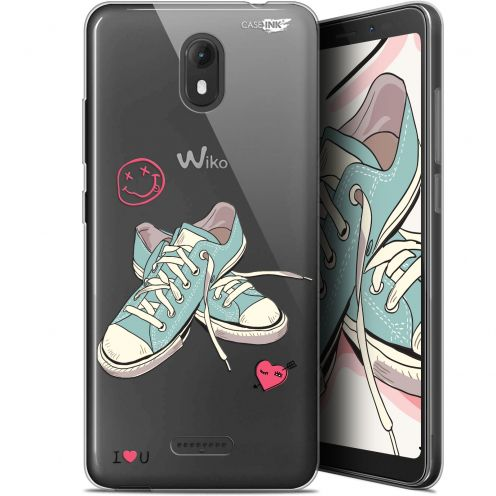 """Coque Gel Wiko View GO (5.7"""") Extra Fine Motif -  Mes Sneakers d'Amour"""