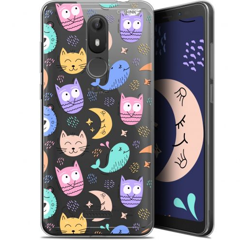 "Coque Gel Wiko View LITE (5.45"") Extra Fine Motif - Chat Hibou"