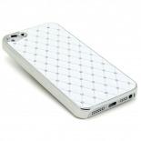 Visuel supplémentaire de Coque iPhone 5 Luxury Satin & Diamant Blanche