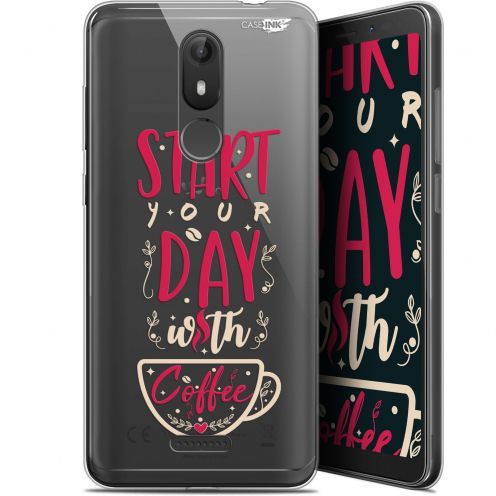 """Coque Gel Wiko View LITE (5.45"""") Extra Fine Motif -  Start With Coffee"""