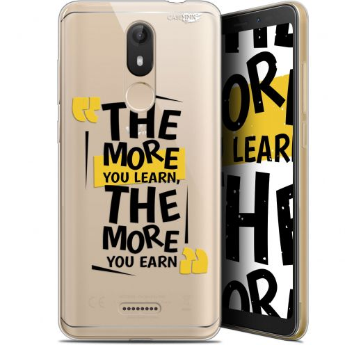 """Coque Gel Wiko View LITE (5.45"""") Extra Fine Motif -  The More You Learn"""