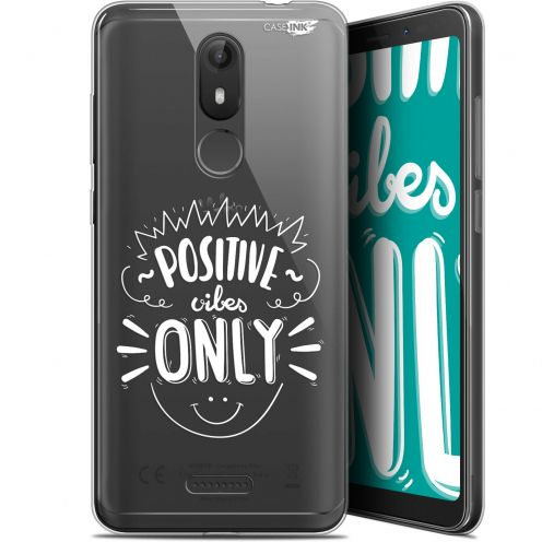 """Coque Gel Wiko View LITE (5.45"""") Extra Fine Motif -  Positive Vibes Only"""