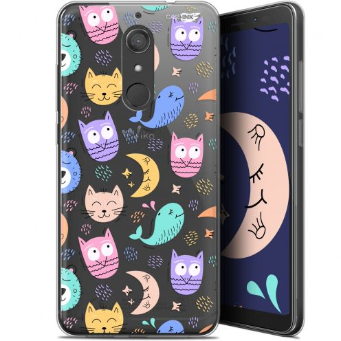 "Coque Gel Wiko View XL (5.99"") Extra Fine Motif -  Chat Hibou"