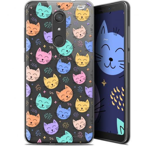 "Coque Gel Wiko View XL (5.99"") Extra Fine Motif -  Chat Dormant"