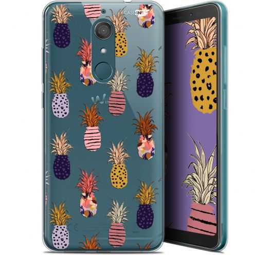 "Coque Gel Wiko View XL (5.99"") Extra Fine Motif -  Ananas Gold"