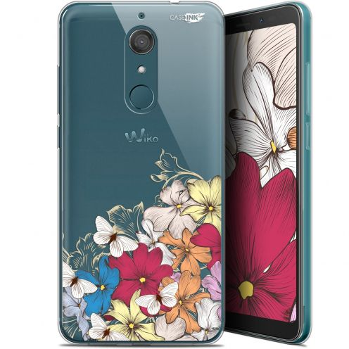 "Coque Gel Wiko View XL (5.99"") Extra Fine Motif -  Nuage Floral"