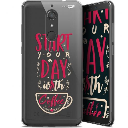 "Coque Gel Wiko View XL (5.99"") Extra Fine Motif -  Start With Coffee"