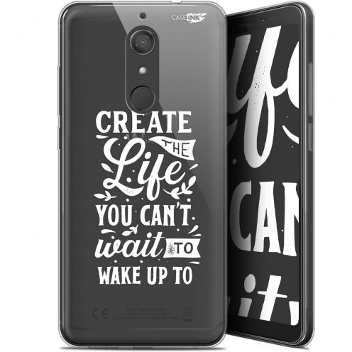 "Coque Gel Wiko View XL (5.99"") Extra Fine Motif -  Wake Up Your Life"