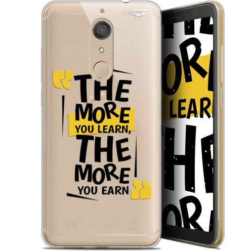 "Coque Gel Wiko View XL (5.99"") Extra Fine Motif -  The More You Learn"