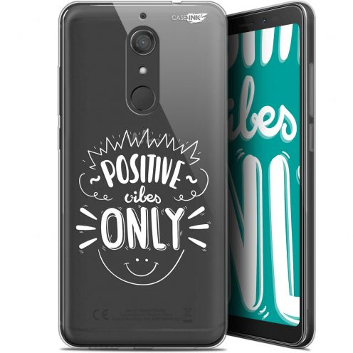 "Coque Gel Wiko View XL (5.99"") Extra Fine Motif -  Positive Vibes Only"
