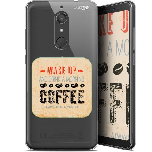 "Coque Gel Wiko View XL (5.99"") Extra Fine Motif -  Wake Up With Coffee"