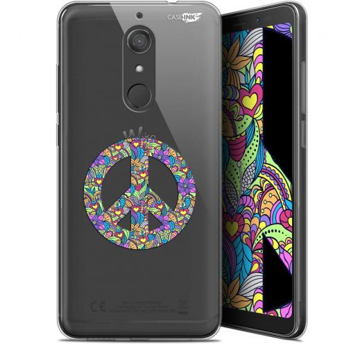 "Coque Gel Wiko View XL (5.99"") Extra Fine Motif -  Peace And Love"