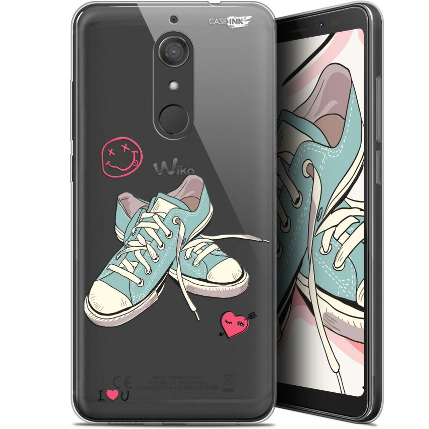 """Coque Gel Wiko View XL (5.99"""") Extra Fine Motif - Mes Sneakers d'Amour"""