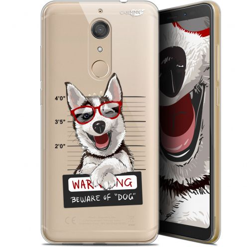 "Coque Gel Wiko View XL (5.99"") Extra Fine Motif -  Beware The Husky Dog"