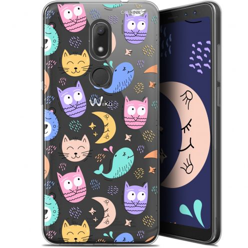 """Coque Gel Wiko View PRIME (5.7"""") Extra Fine Motif -  Chat Hibou"""
