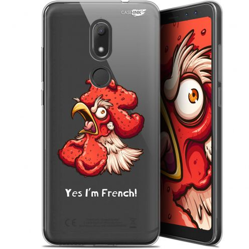 """Coque Gel Wiko View PRIME (5.7"""") Extra Fine Motif -  I'm French Coq"""