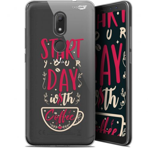 """Coque Gel Wiko View PRIME (5.7"""") Extra Fine Motif -  Start With Coffee"""