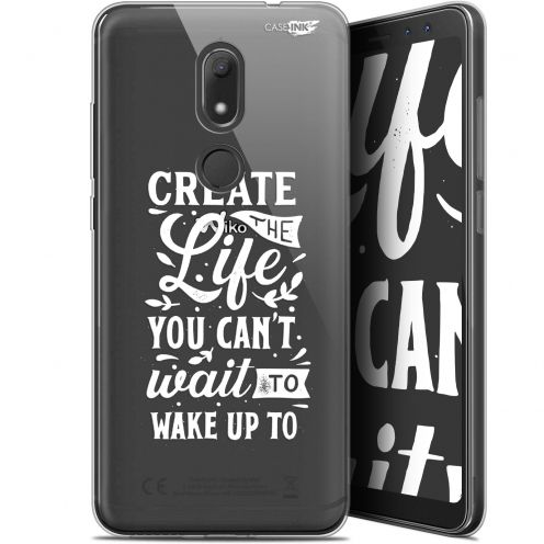 """Coque Gel Wiko View PRIME (5.7"""") Extra Fine Motif -  Wake Up Your Life"""