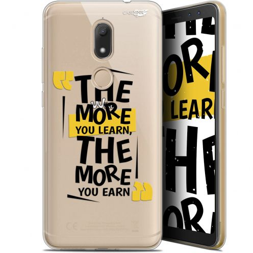 """Coque Gel Wiko View PRIME (5.7"""") Extra Fine Motif -  The More You Learn"""