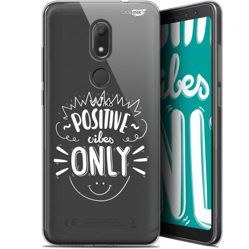 """Coque Gel Wiko View PRIME (5.7"""") Extra Fine Motif -  Positive Vibes Only"""