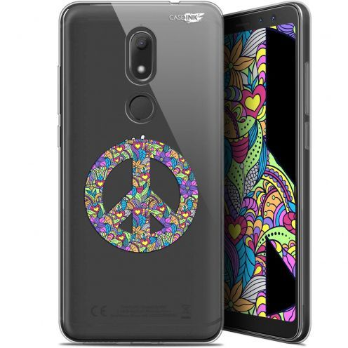 """Coque Gel Wiko View PRIME (5.7"""") Extra Fine Motif -  Peace And Love"""