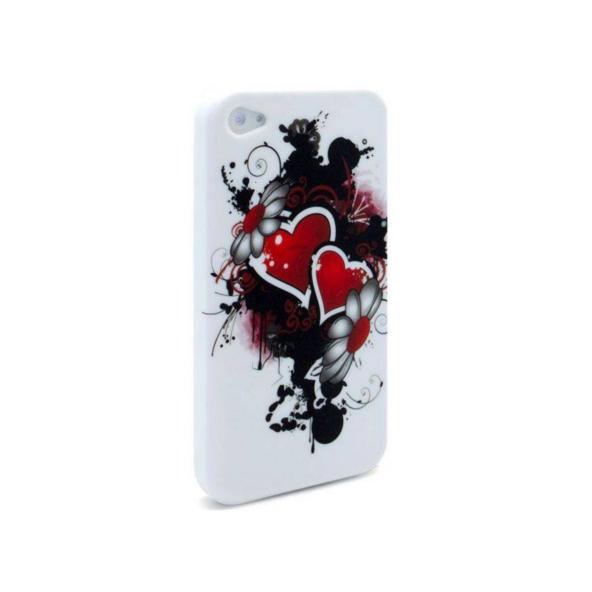 Visuel supplémentaire de Coque iPhone 4 Hearts ABSTRACTION Rouge