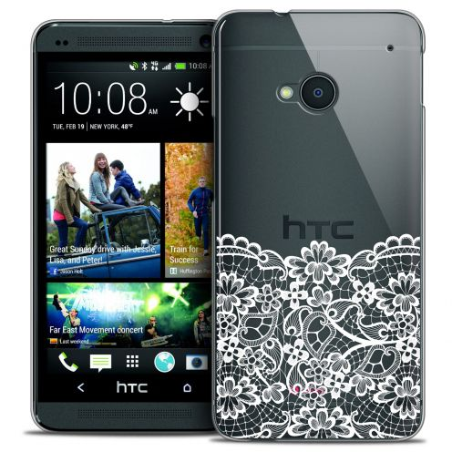 Coque Crystal HTC One (M7) Extra Fine Spring - Bas dentelle