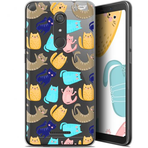 "Coque Gel Wiko View (5.7"") Extra Fine Motif - Chat Danse"