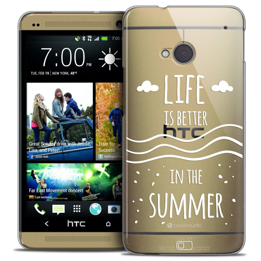Coque Crystal HTC One (M7) Extra Fine Summer - Life's Better