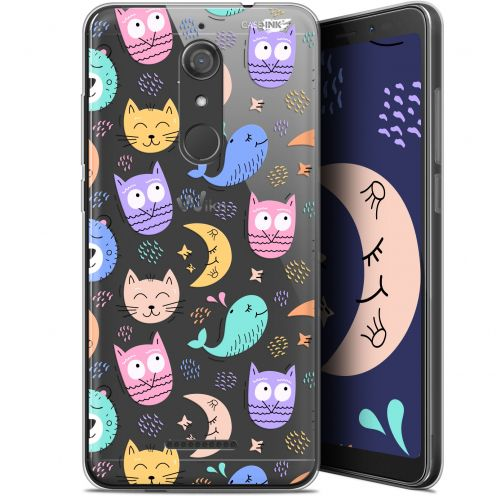 """Coque Gel Wiko View (5.7"""") Extra Fine Motif -  Chat Hibou"""