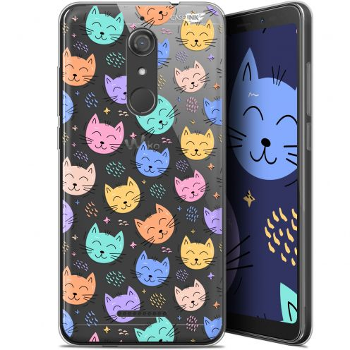 """Coque Gel Wiko View (5.7"""") Extra Fine Motif -  Chat Dormant"""