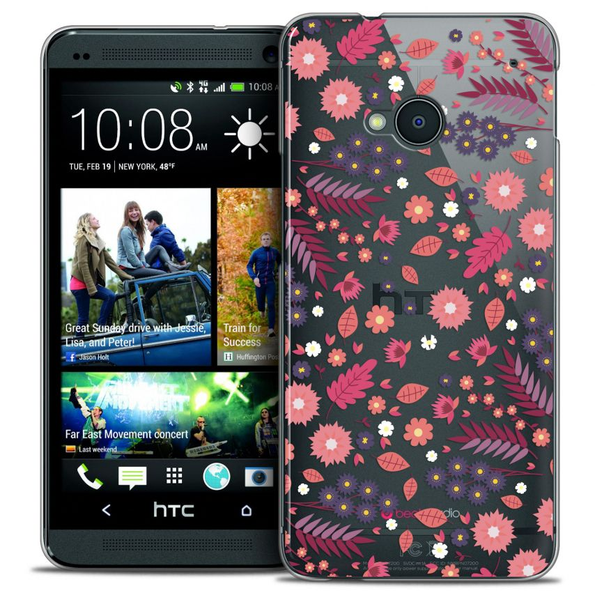 Coque Crystal HTC One (M7) Extra Fine Spring - Floraison