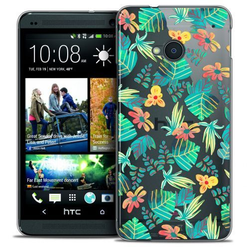 Coque Crystal HTC One (M7) Extra Fine Spring - Tropical