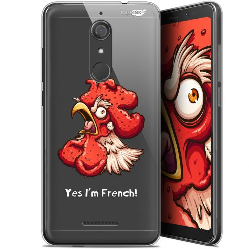 "Coque Gel Wiko View (5.7"") Extra Fine Motif - I'm French Coq"