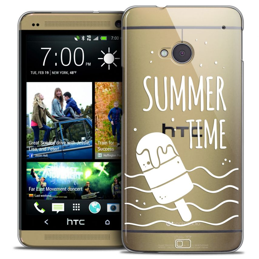 Coque Crystal HTC One (M7) Extra Fine Summer - Summer Time