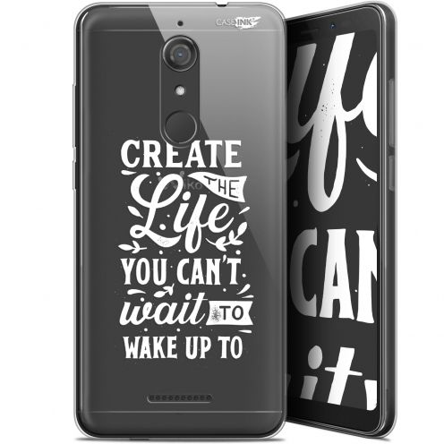 """Coque Gel Wiko View (5.7"""") Extra Fine Motif -  Wake Up Your Life"""