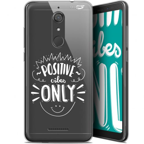 """Coque Gel Wiko View (5.7"""") Extra Fine Motif -  Positive Vibes Only"""