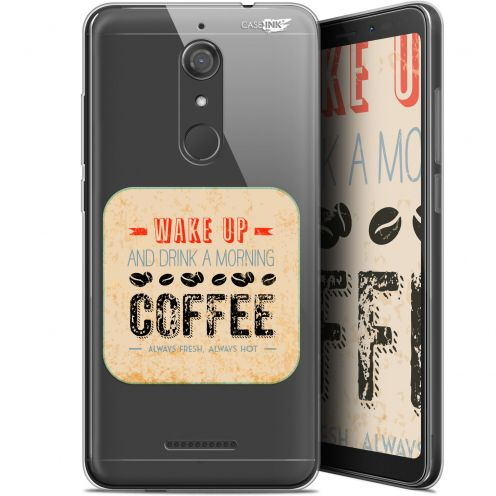 """Coque Gel Wiko View (5.7"""") Extra Fine Motif -  Wake Up With Coffee"""