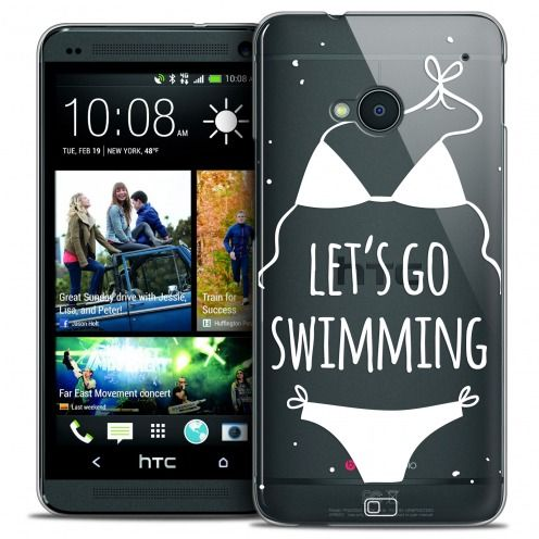 Coque Crystal HTC One (M7) Extra Fine Summer - Let's Go Swim