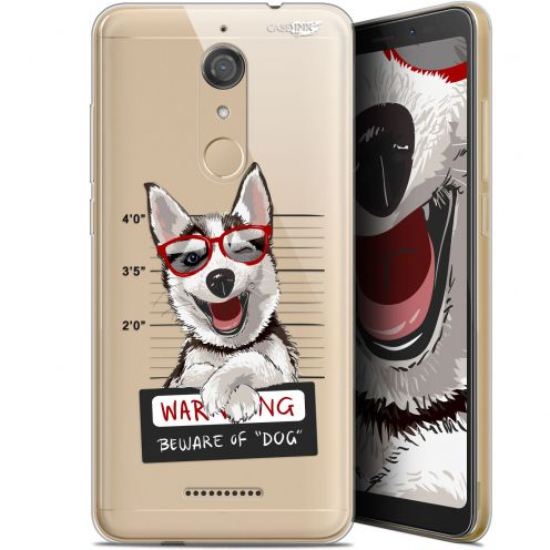 "Coque Gel Wiko View (5.7"") Extra Fine Motif -  Beware The Husky Dog"