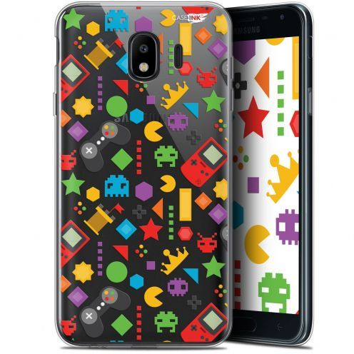 "Coque Gel Samsung Galaxy J4 2018 J400 (5.7"") Extra Fine Motif - PacMan"