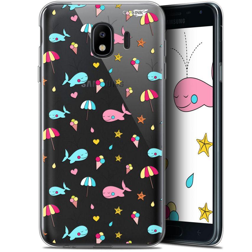 """Coque Gel Samsung Galaxy J4 2018 J400 (5.7"""") Extra Fine Motif - Baleine à la Plage"""